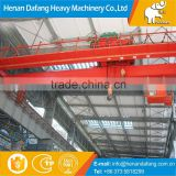 High Efficiency QD Model Workshop Double Beam Bridge Crane 20 ton with Overload Limit Switch