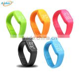 2016 fashion bracelet Pedometer wristbands USB smart bracelet with smart hand lights step counter watches