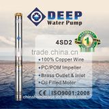 4SD2 series PC/POM impeller single phase 0.5hp submersible water pump with control box