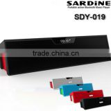 New Bluetooth Sardine Sdy-019 Hifi Speaker with LCD Display FM Alarm Hands Freepeaker Sound Box with mic FM Radio
