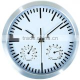 10inch 3D dial Aluminium Wall Clock with humidity and temperature!