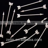 Surgical steel arrow industrial barbell body piercing jewelry