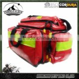 offer first aid supplies, single shoulder red reflective material doctor's empty first aid bag with secret backpack straps
