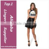 Fitness Skinny Crop Top 2015 New Women Tight Bustier Crop Top Skinny T-Shirt Belly Sports Dance Tops Vest Tank Tops