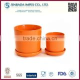 Factory price new design ceramic products, orange decrative ceramic plant pot/flower pots