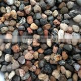 unpolished Natural Mixed Color flat River Pebble Stone