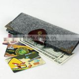 new product 2017 wholesale pure wool Felt Name Card organizer felt wallet made in China
