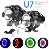 125W U5 U7 LED Motorcycle ATV Bike Spot Fog Light Driving Headlight PC