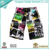 New colorful design submilation printing men beach shorts swimwear