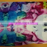 printed silk georgette fabric pure mongolian cashmere scarf