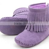 Baby suede leather new style girls ballet shoes unique boys shoes