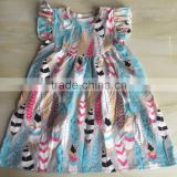 WY-653 Cute Girl Dresses in Stock Kids Frocks Online 1 Year Old Birthday Dress for Baby Girl