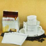 laminated aluminum foil stand up zipper coffee bean bags with plastic coffee filters bag with zipper & hang hole