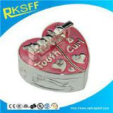 Zinc Alloy Pink Heart-shaped Tooth Boxs