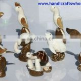Large Tagua Nut Figurines Hand Carved Artwork Carving Animal Statues Wholesale Unique Ornaments Ecuador