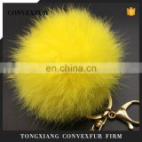 Genuine big rabbit fur ball keychain for decoration wholesale