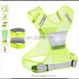 Popular Active Sports Running Reflective Safety Vest with Wrist Bands