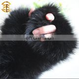 Aristocratic Gatherings Black Wholesales Rabbit Fur Fashion Girls' Cute Winter Glove