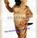 Professional Custom German Shepard Dog Mascot Costume Suit Halloween Prop Adult Cartoon Mascotte Fancy Dress Outfit