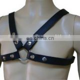 HMB-428B LEATHER BODY CHEST HARNESS GOTHIC COSTUME WEAR