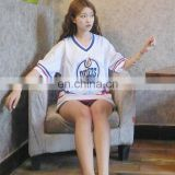 Summer Girl's Custom White Oilers School Uniform