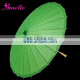 A0389-green Decorative green printed paper umbrellas for wedding