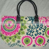 Beautiful Indian Hand Embroidery Carving Handbags Tote Bags Suzani Embroidery bags