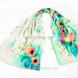 Hot sale Green scarf 100% pure silk satin