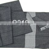 Warm Checked Contrast Color Scarf Brushed Oriental Silk Scaves