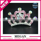 Bling Rhinestone Clip Princess Tiara Crown Hair Comb with middle heart and flower For Girls