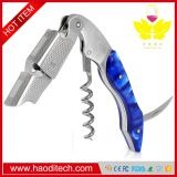 Blue Color Professional Stainless Steel with Moonstone Resin Inlay All-in-one Corkscrew, Bottle Opener and Foil Cutter