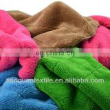 Coral fleece towel solid dyed soft handle 200gsm 300gsm 400gsm high quality from China supplier