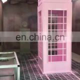 factory wholesale OEM customized traditional metal antique red london telephone booth