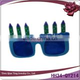 Funny birthday plastic party glasses with candle