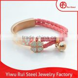 new design gold jewellery bangles stainless steel and leather luxury gold bangle jewelry