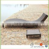 Patio furniture used rattan chaise lounge chair sunbed daybed