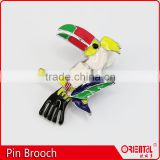 cute animal bird shape colorful enamel metal pin on needle brooch