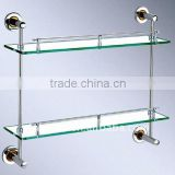 Glass tray, glass shelf, stainless steel fittings Dual tiers X005-2