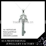 Silver jewelry 925 name design pendant for women key custom pendant best friend gemstone pendant