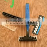disposable hotel shaving razor for hair removal /manufacturer supplier plastic handle disposable razor