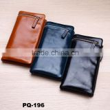 Top quality Unisex Genuine Leather Clutch Handbag Organizer Wallet Card Coin Purse Checkbook