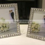 AN348 ANPHY European Style Noble Diamond Zinc Alloy Wedding Two Sizes Real Silver Plating Metal Photo Frame Stand Display