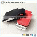 Custom high quality pu leather usb memory stick 1G 2G 4G 8G 16G 32G 64G with embossed logo