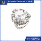 CCR0553 Alibaba wholsale crystal jewelry hotsale crystal ring, titanium silver 316l stainless steel ring