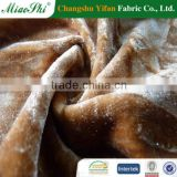 Washable stretch velour fabric for garments