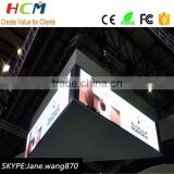 Stadium hanging led display full color P3.91 super clear gym wall panel
