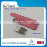 innovative products for import energy silicone bracelet with stainless steel buckle made in China