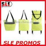 Foldable Shopping Trolley Bag/Vegetable Shopping Trolley Bag With Wheels/ Outdoor Trolley Bag
