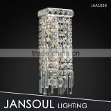 hot selling plug in crystal wall light for bedroom reading