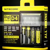 Superb NiteCore d2 charger Intellicharger led flashlight Battery Charger Li-ion /Ni-MH LiFePO4 battery charger aa aaa